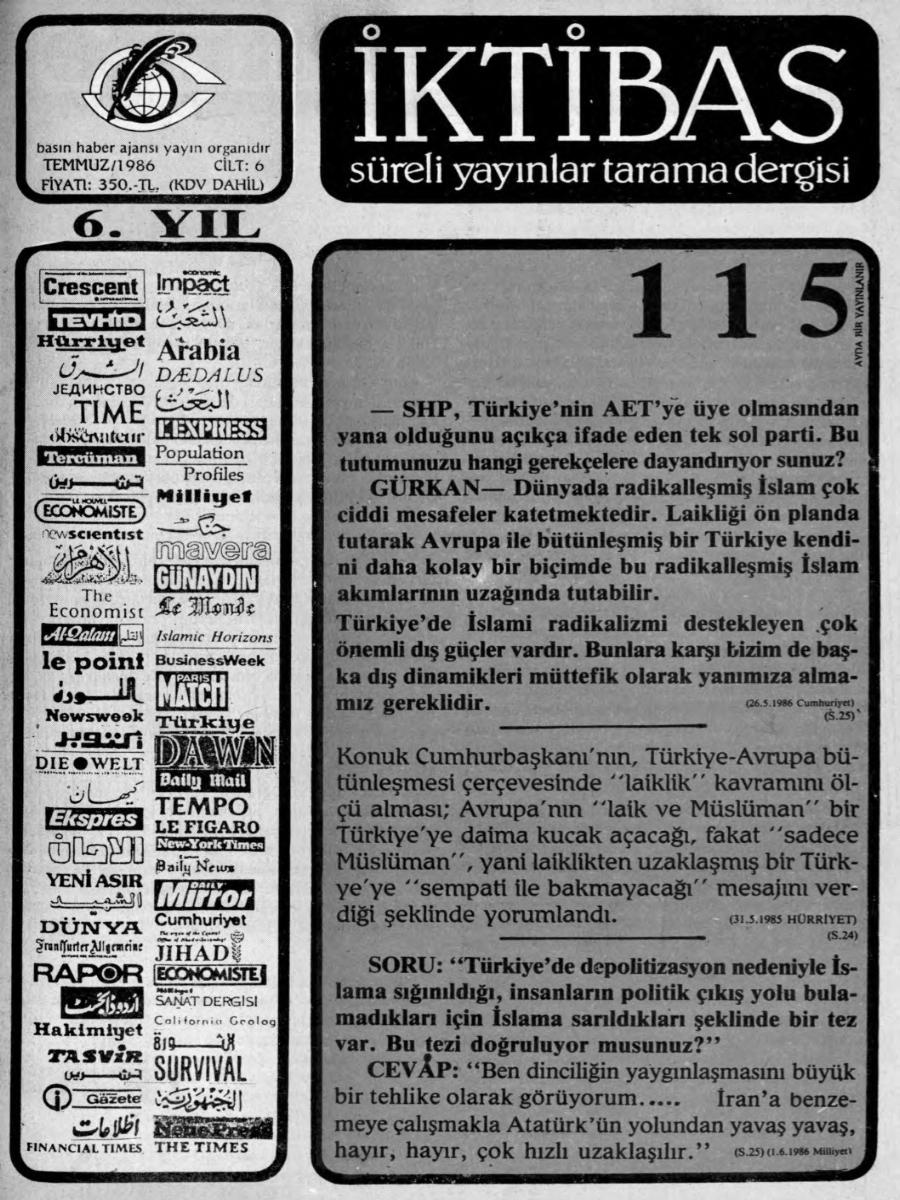 6. Cilt 115. Sayı
