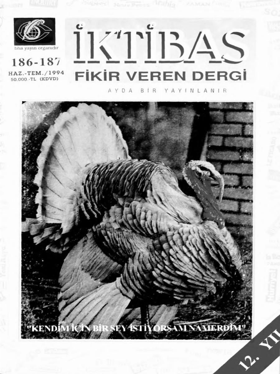 12. Cilt 186-187. Sayı