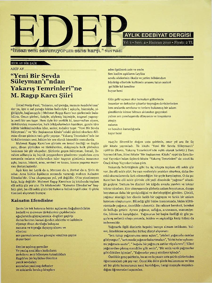 Edep - İDP - İslamcı Dergiler Projesi