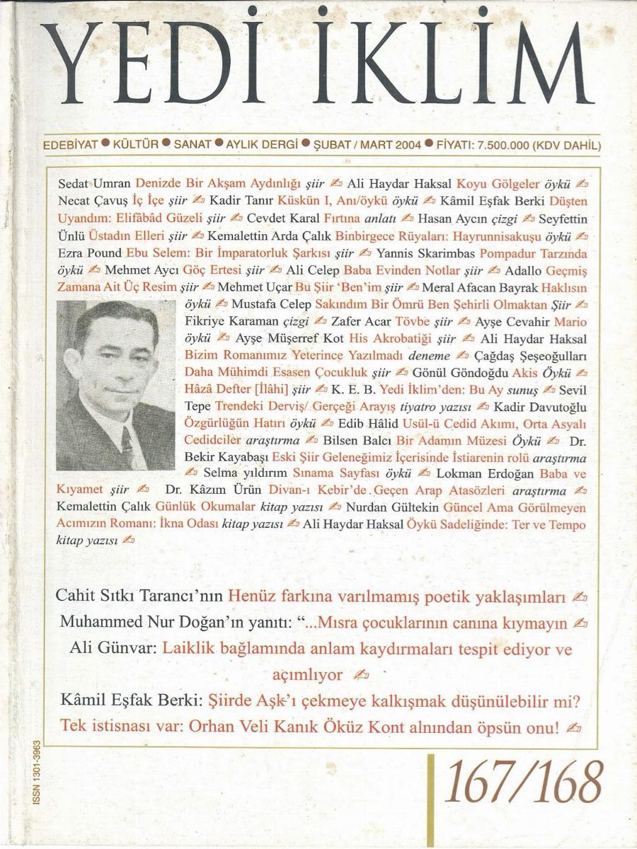 17. Cilt 167-168. Sayı