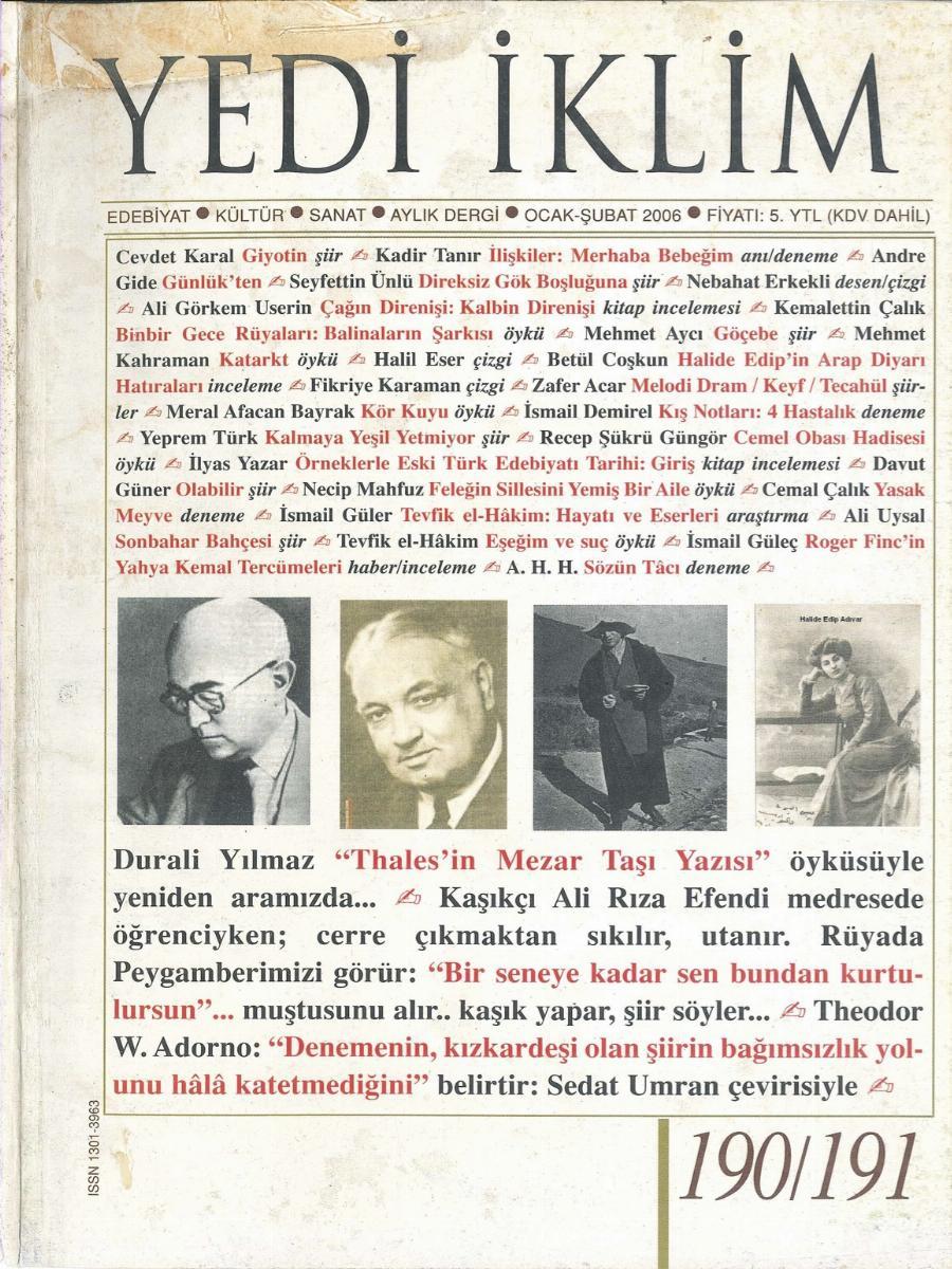 19. Cilt 190-191. Sayı
