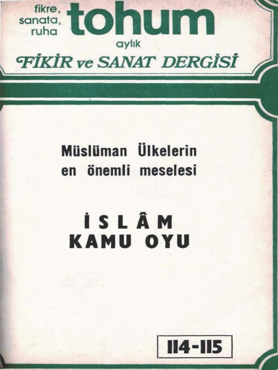 10. Cilt 114-115. Sayı