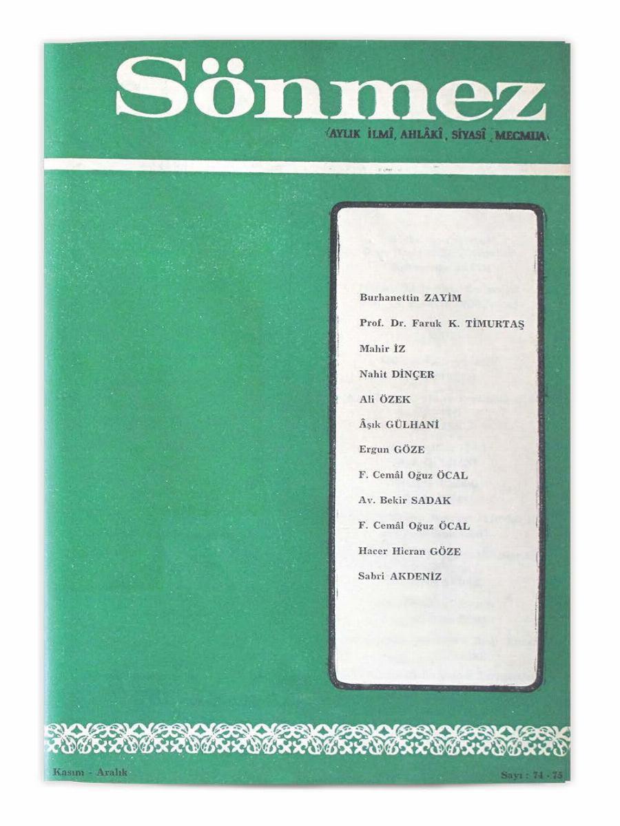 8. Cilt 74-75. Sayı