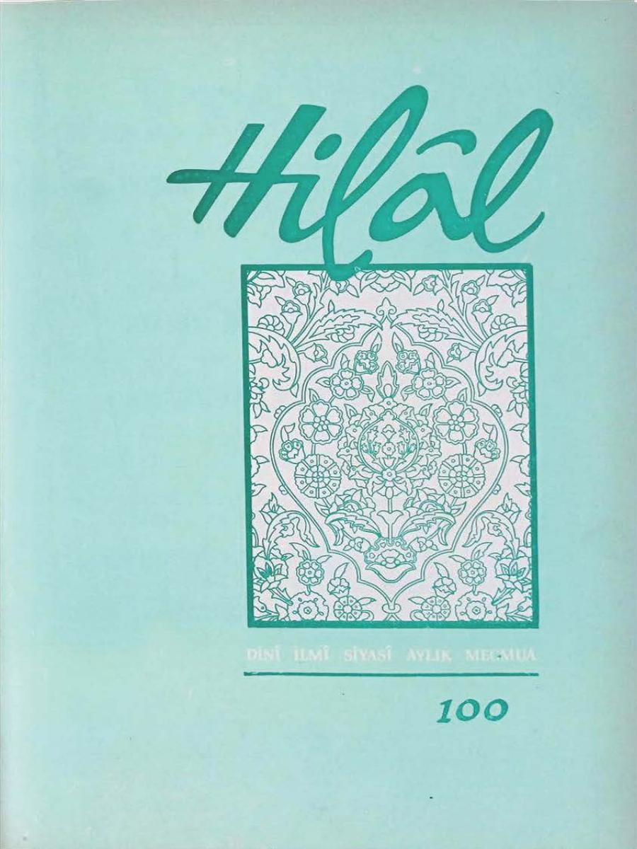 9. Cilt 100. Sayı