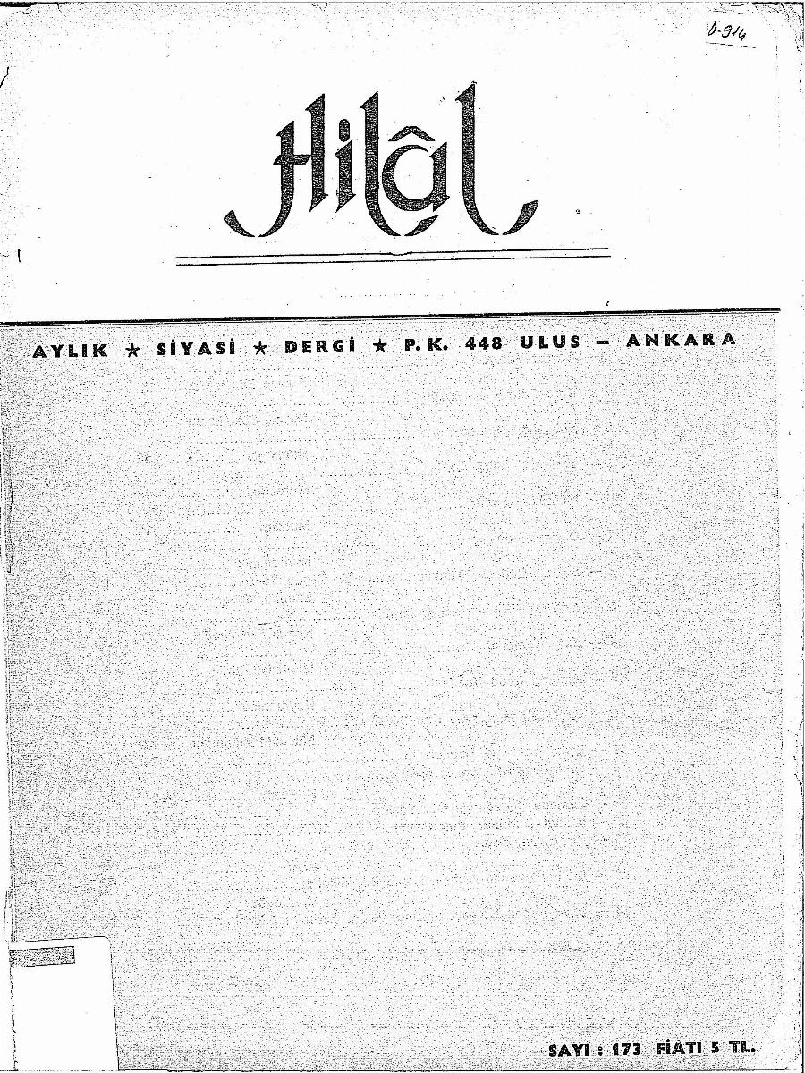 15. Cilt 173. Sayı
