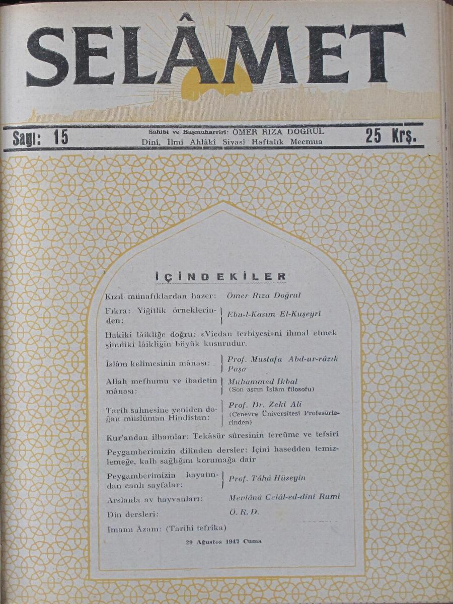 1. Cilt 15. Sayı