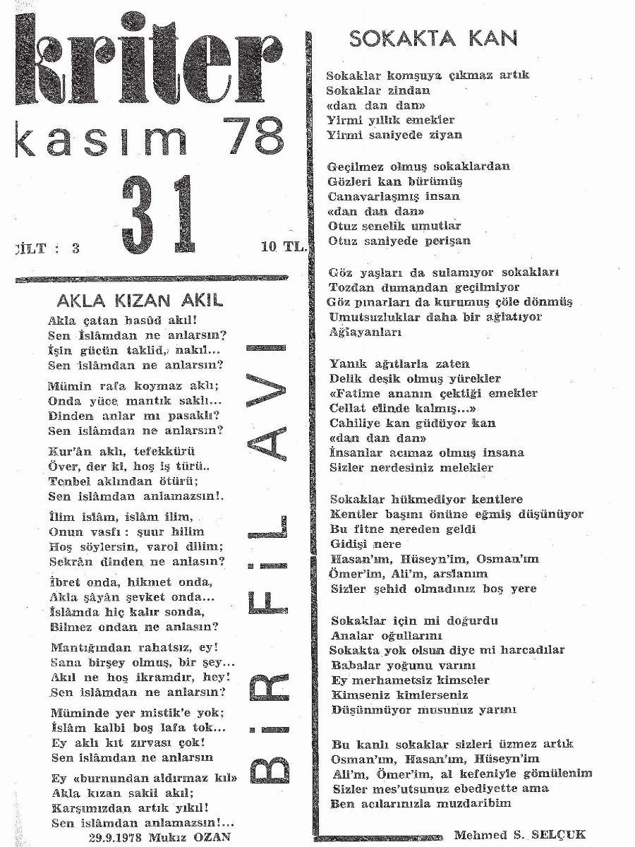 3. Cilt 31. Sayı