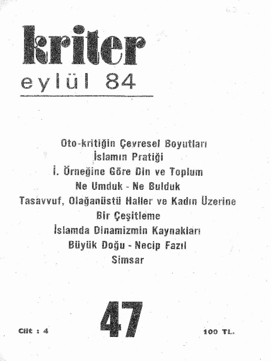 4. Cilt 47. Sayı