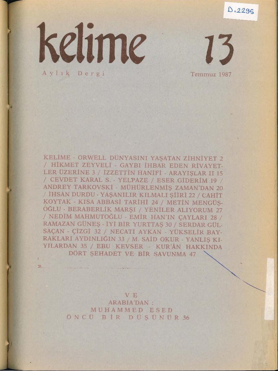 13. Sayı