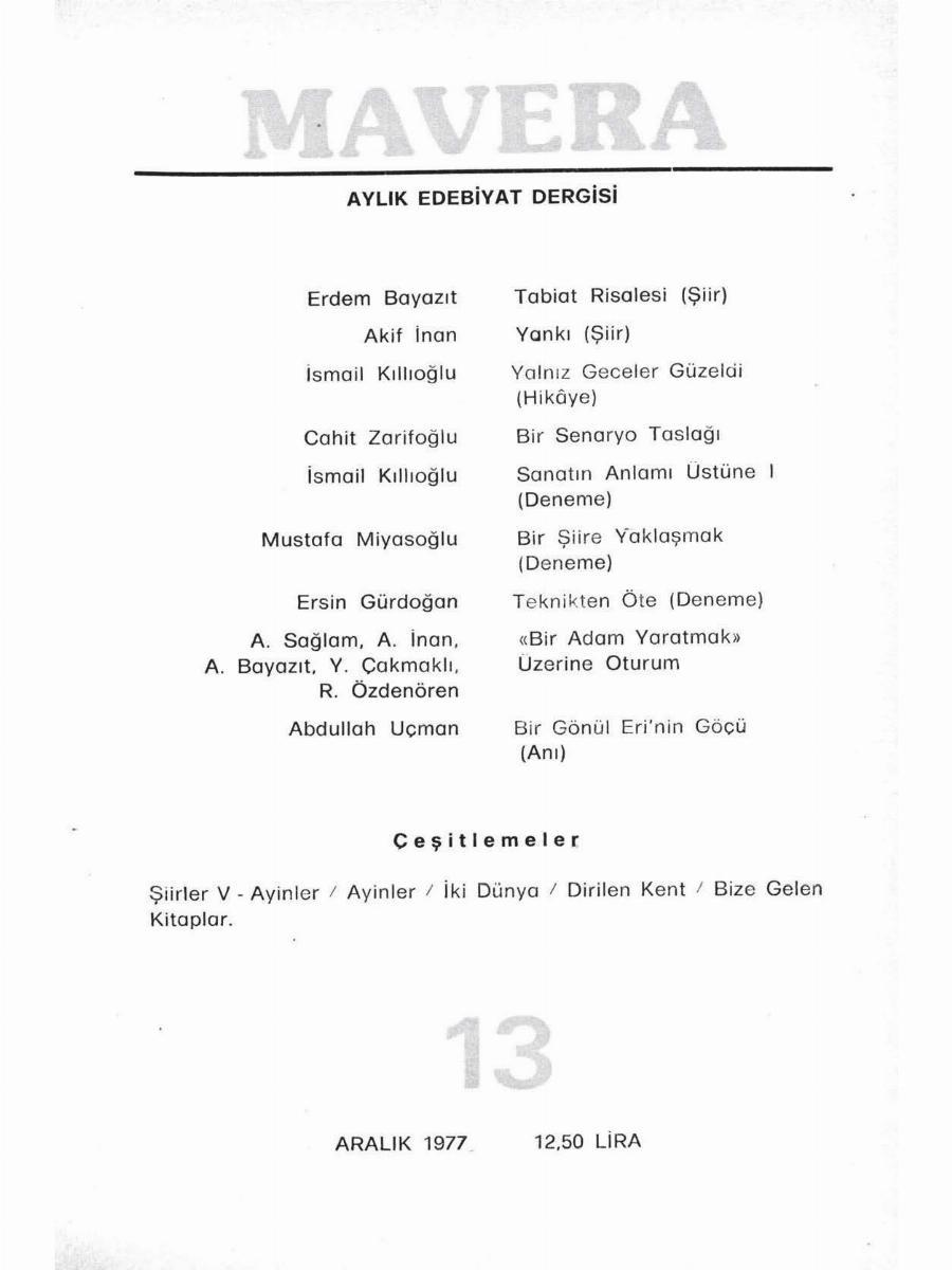 2. Cilt 13. Sayı