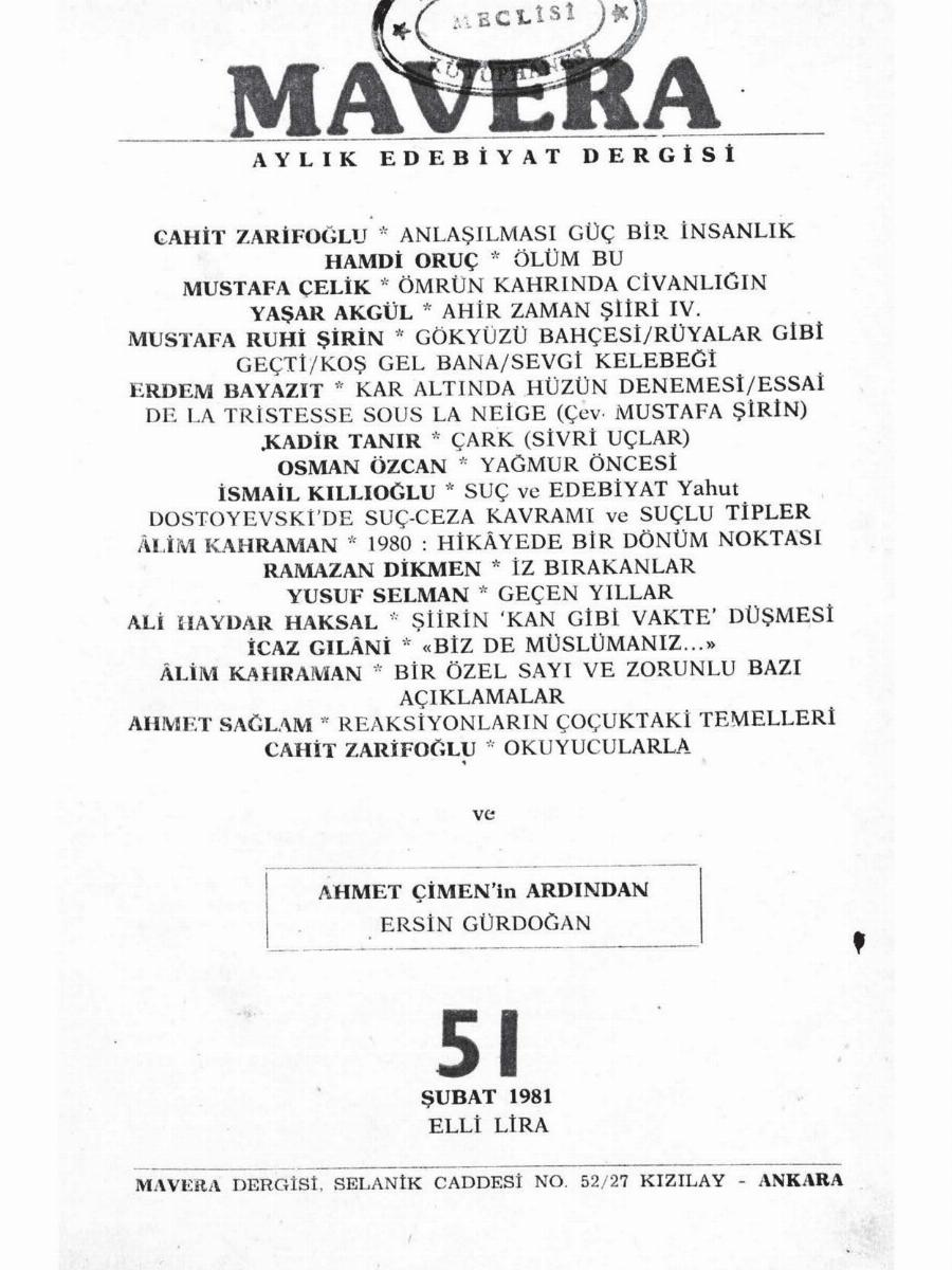 5. Cilt 51. Sayı
