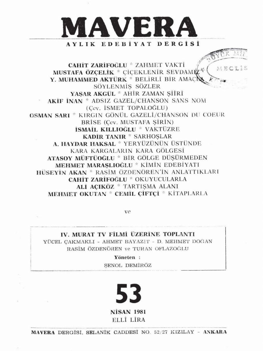 5. Cilt 53. Sayı