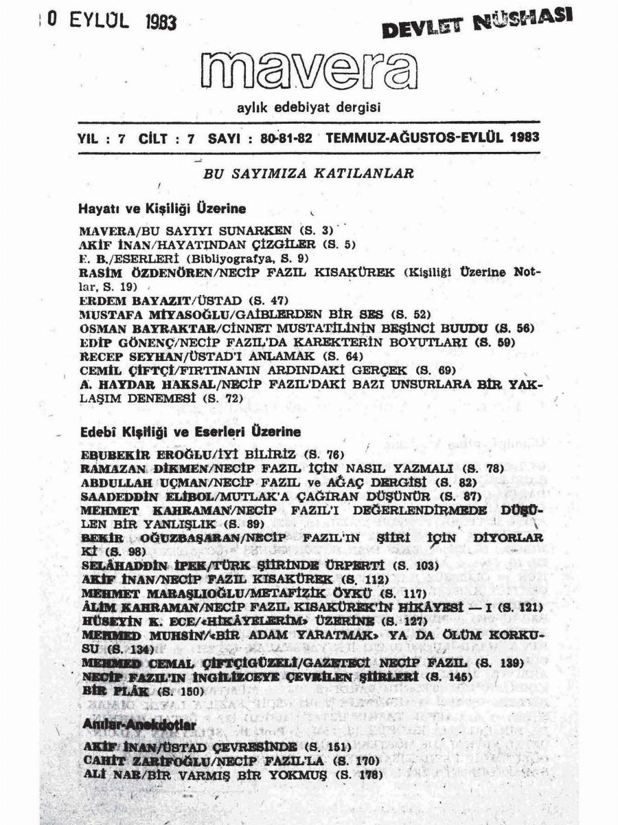 7. Cilt 80-81-82. Sayı