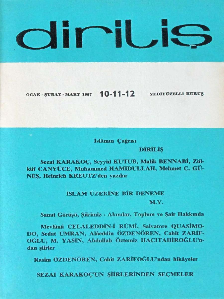 2. Cilt 10-11-12. Sayı