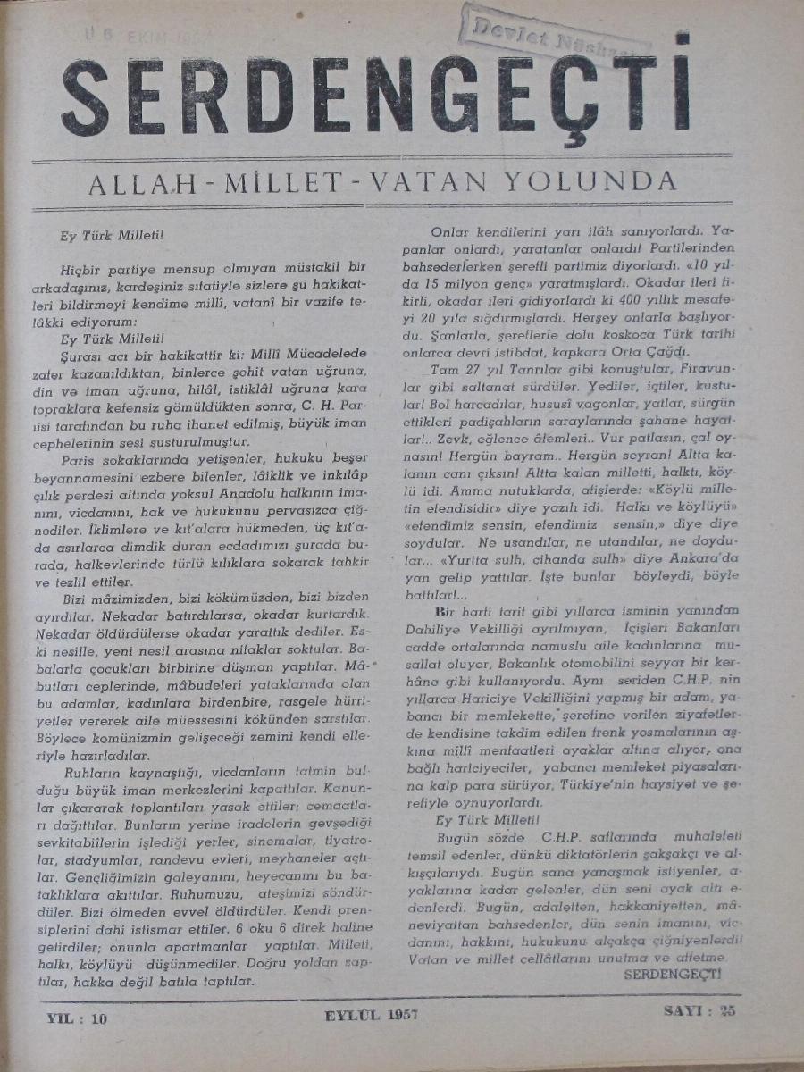 10. Cilt 25. Sayı