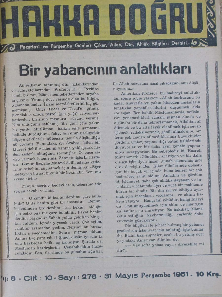 10. Cilt 276. Sayı