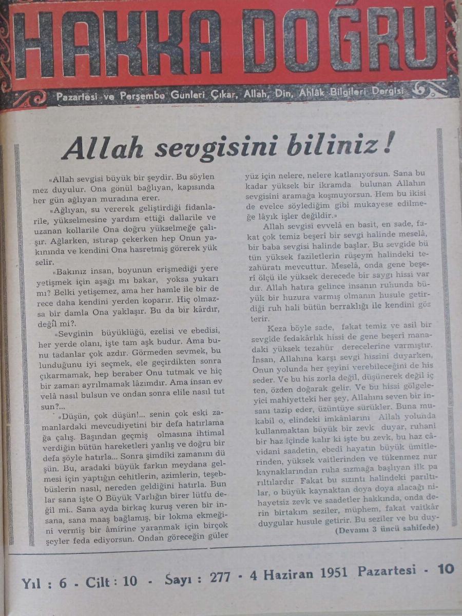 10. Cilt 277. Sayı