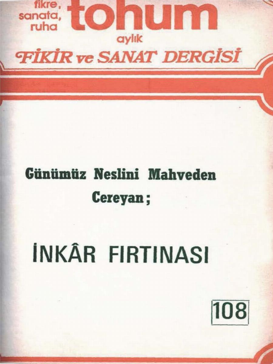 9. Cilt 108. Sayı