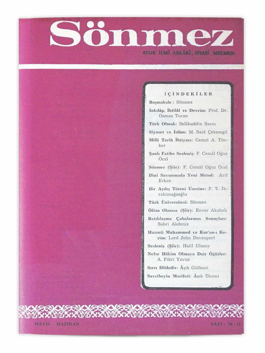 8. Cilt 70-71. Sayı