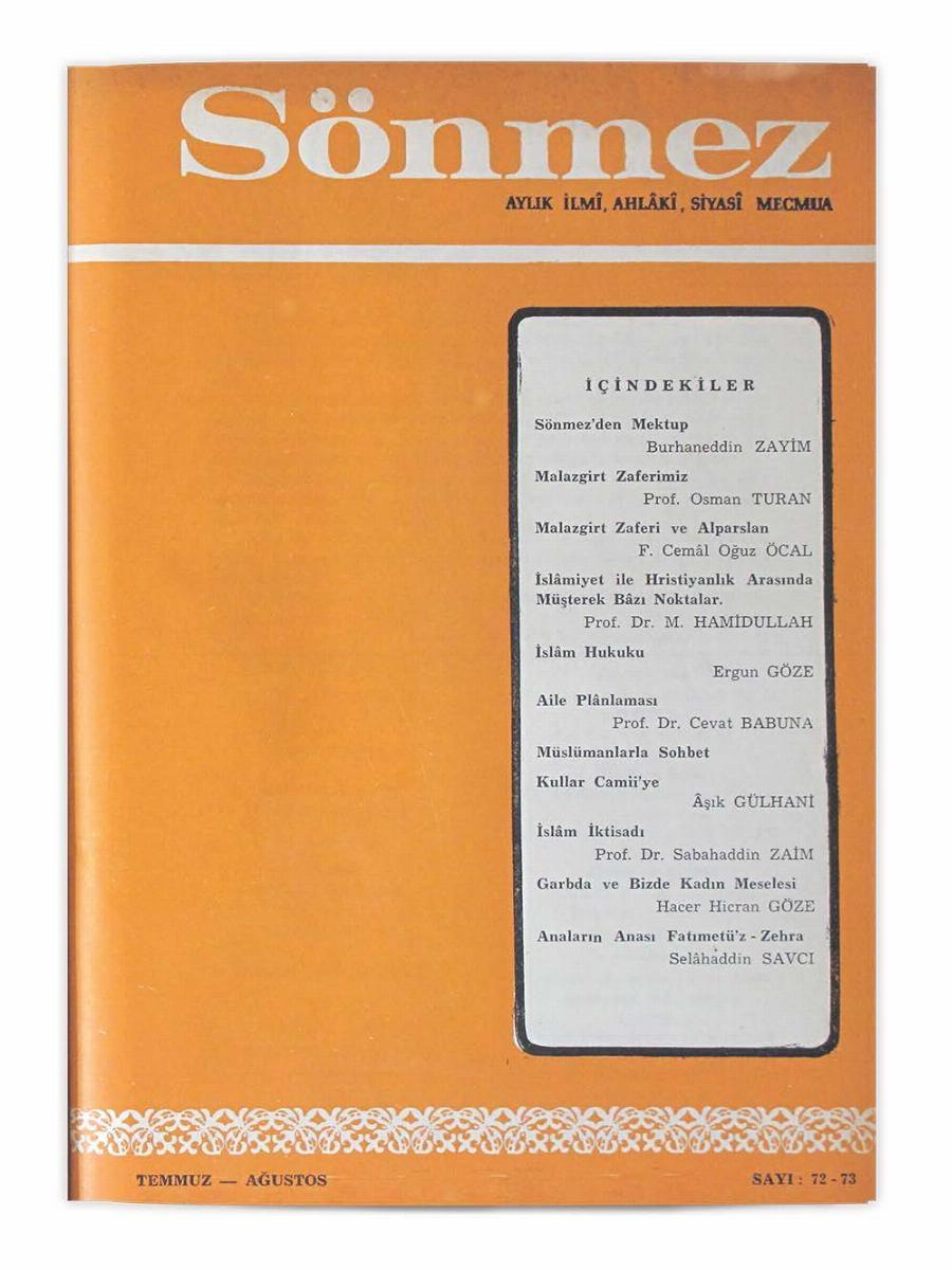 8. Cilt 72-73. Sayı