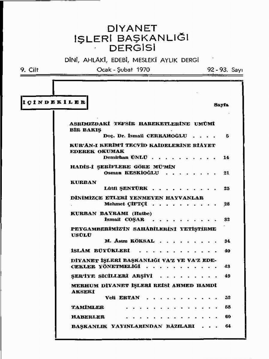 9. Cilt 92-93. Sayı