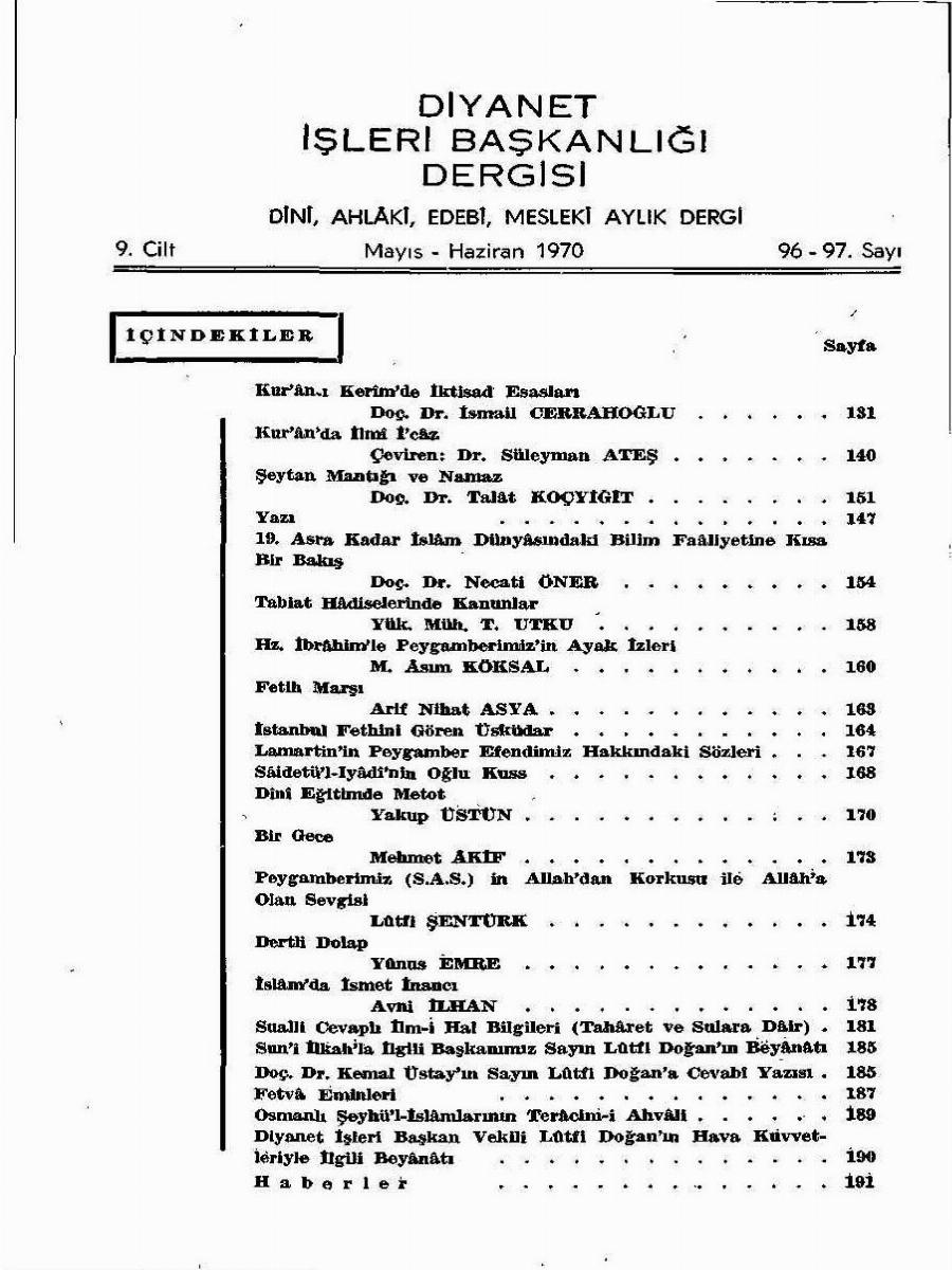9. Cilt 96-97. Sayı