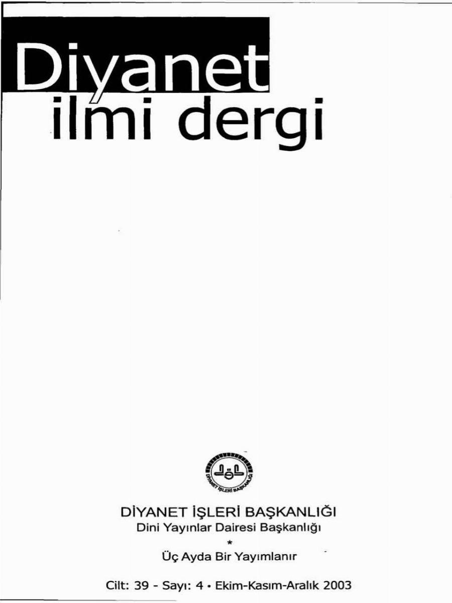 39. Cilt 4. Sayı