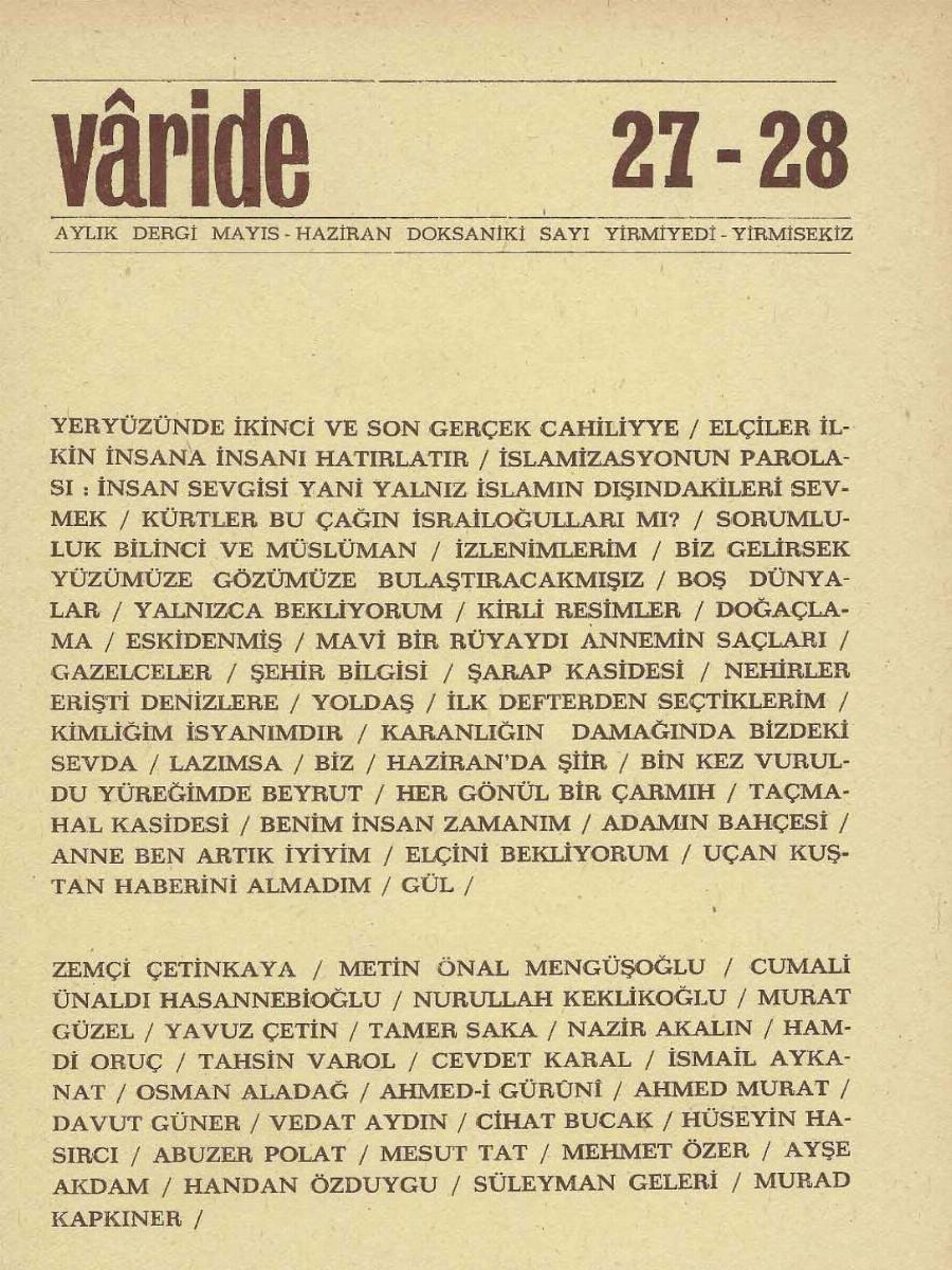 27-28. Sayı