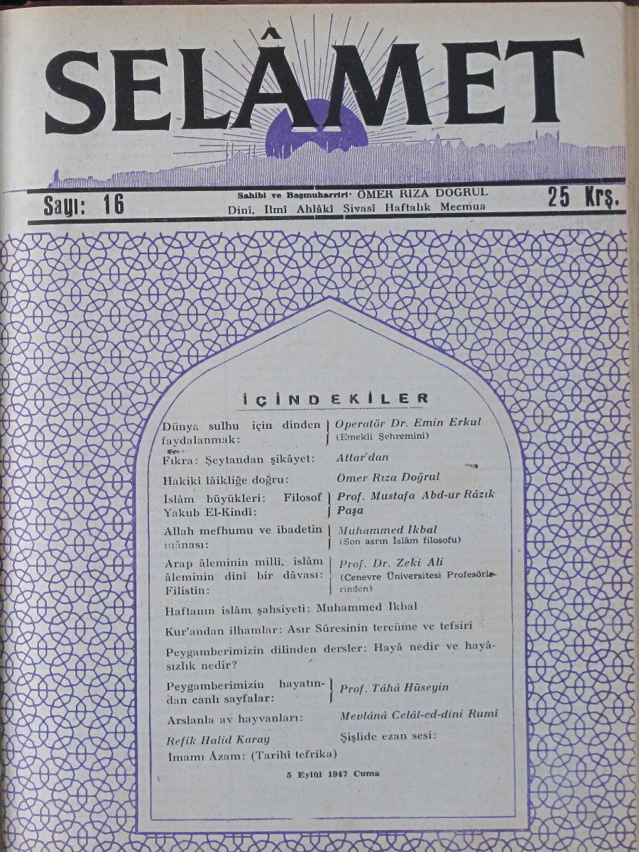 1. Cilt 16. Sayı