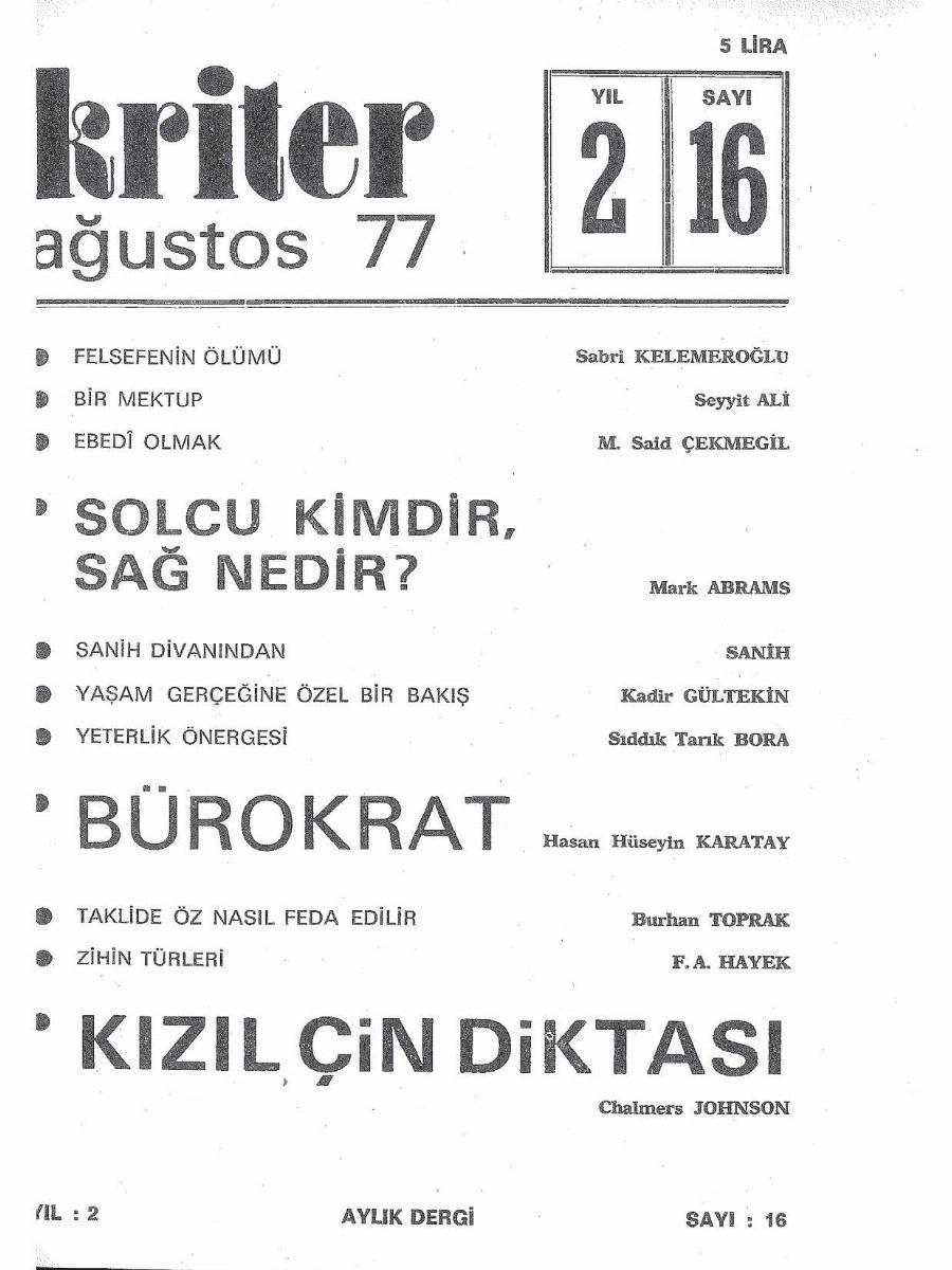 2. Cilt 16. Sayı