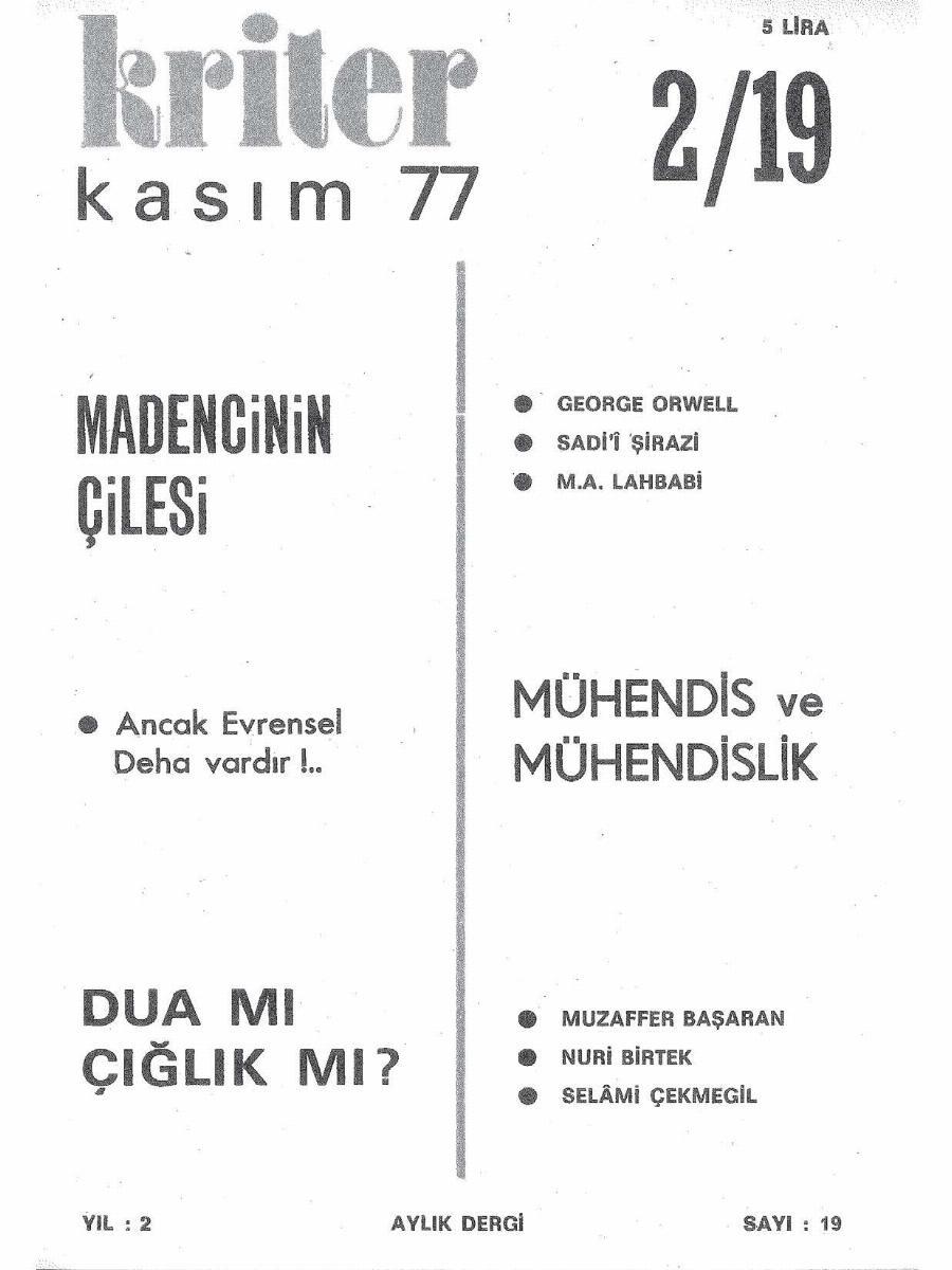 2. Cilt 19. Sayı