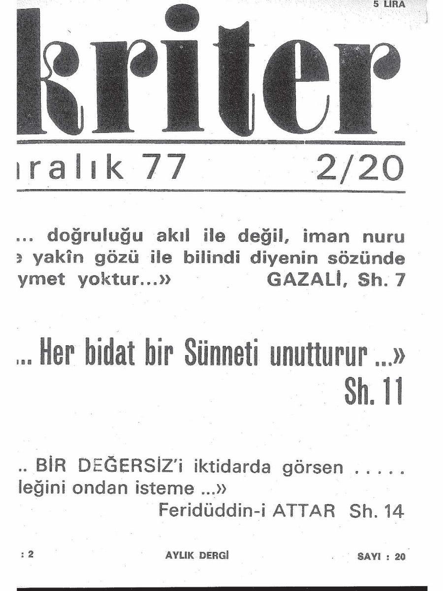 2. Cilt 20. Sayı