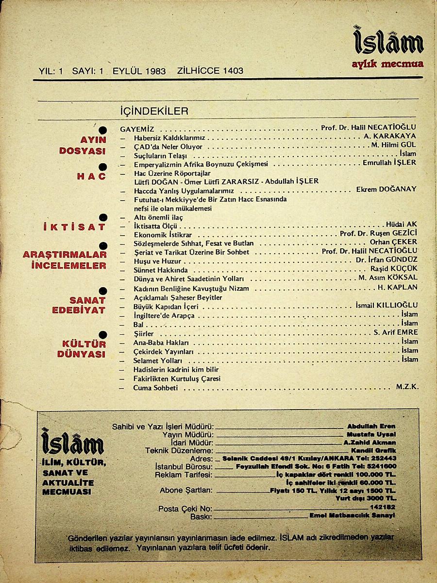 İslam Aylık Mecmua