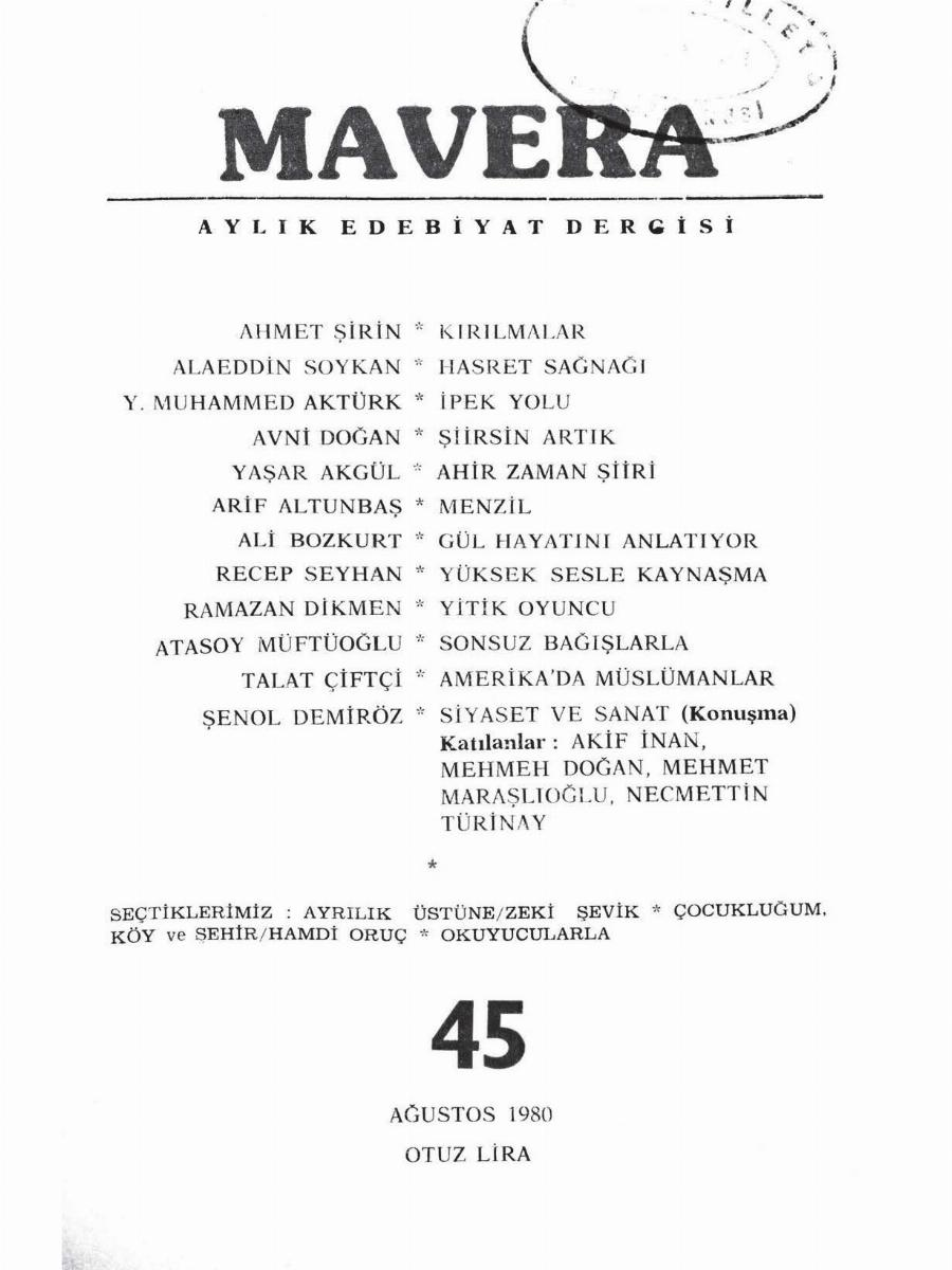 4. Cilt 45. Sayı