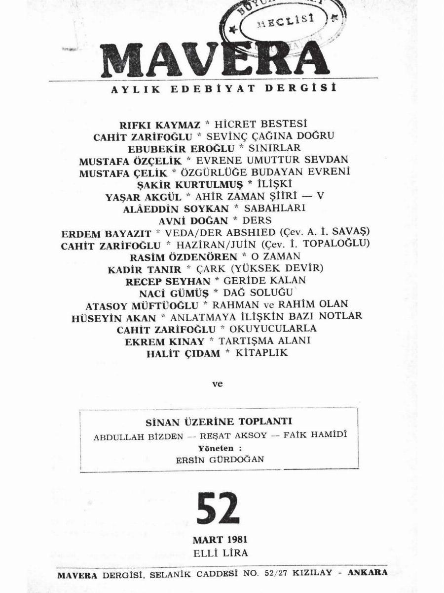 5. Cilt 52. Sayı