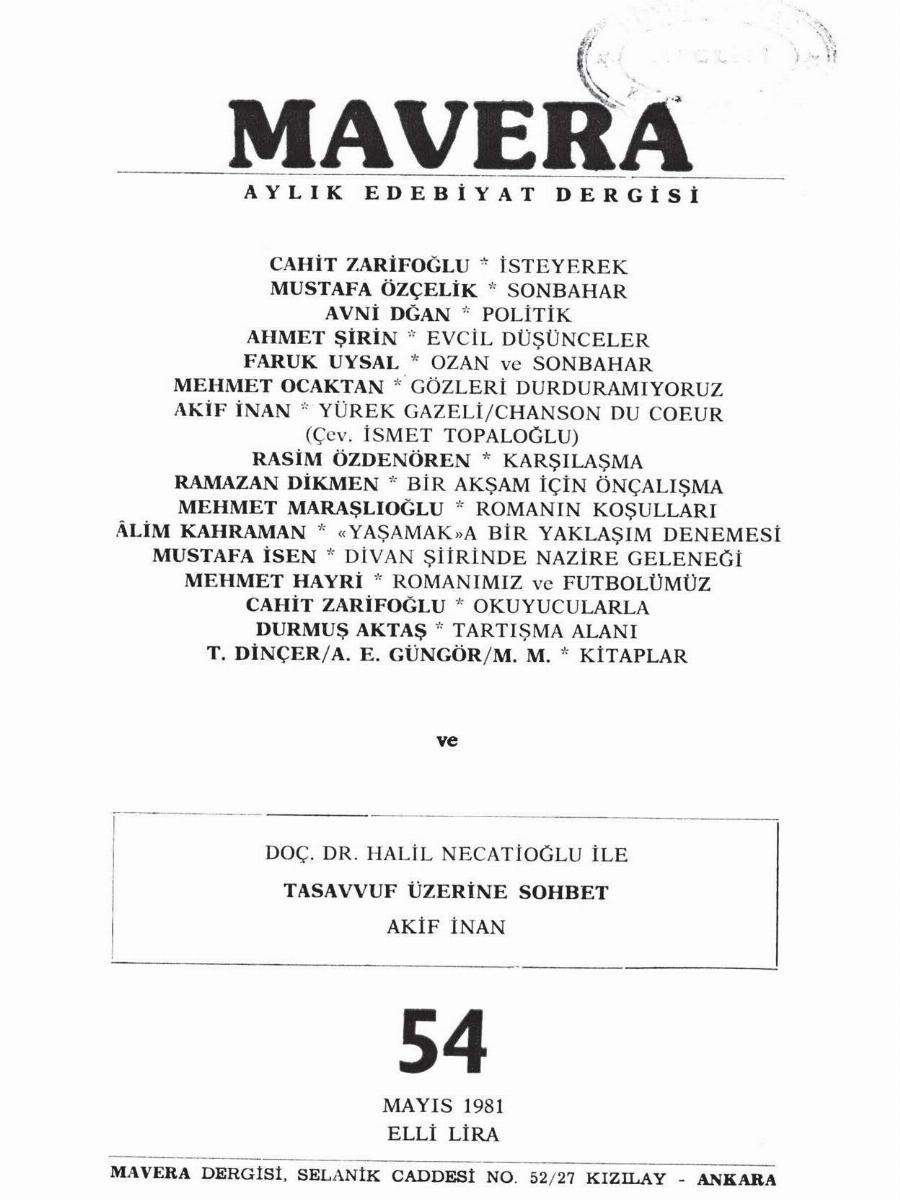 5. Cilt 54. Sayı